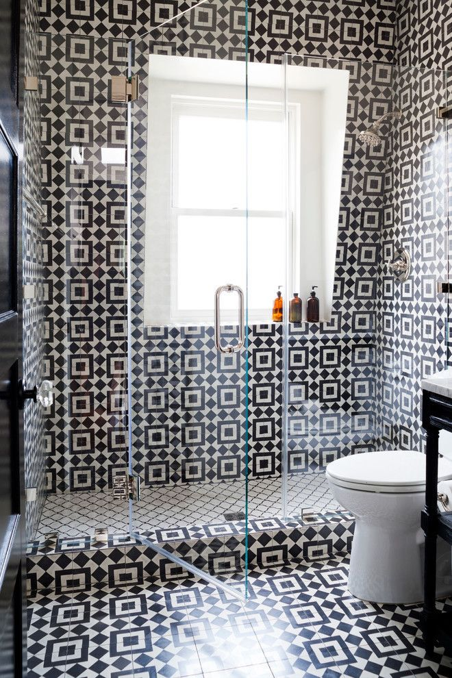 20 Bathrooms With Transformative Tiles Stylish Bathroom Tile Bathroom Bathroom Trends