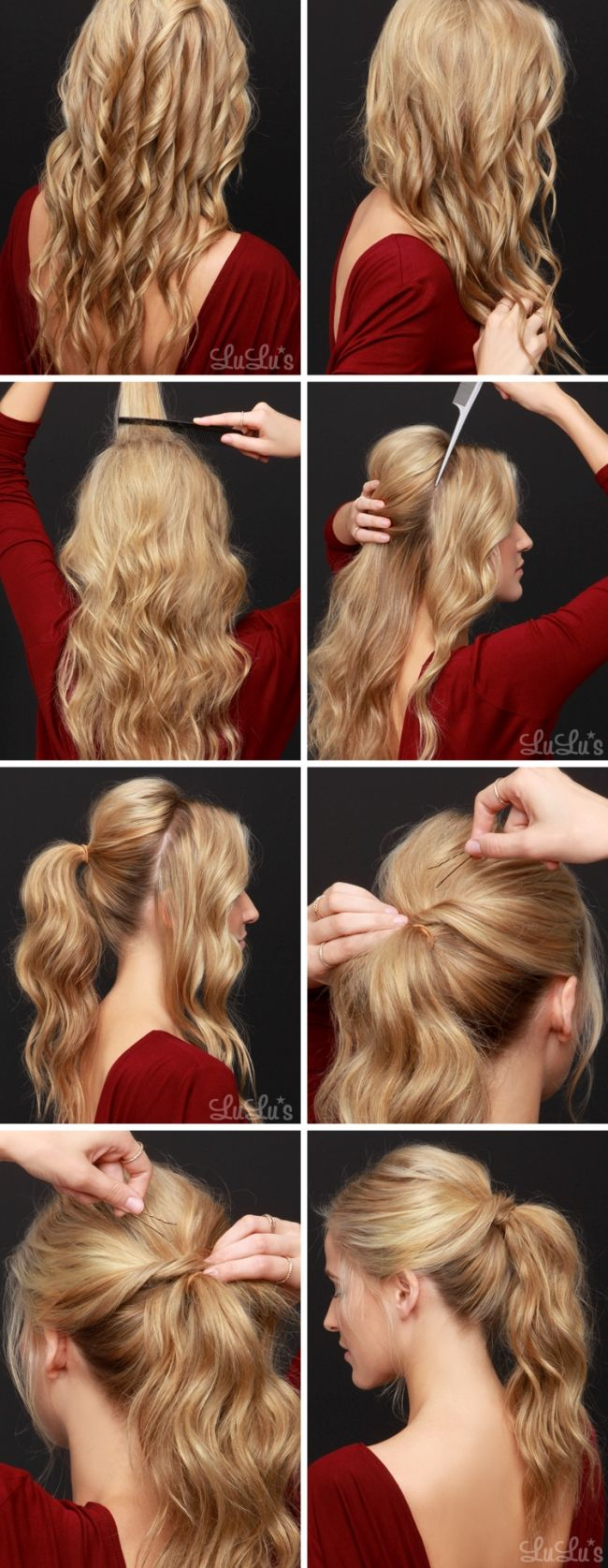 Party Hairstyles For Long Hair Using Step By Step Easy Hairstyles For Long Hair Step Party Hairstyles For Long Hair Easy Party Hairstyles Easy Work Hairstyles