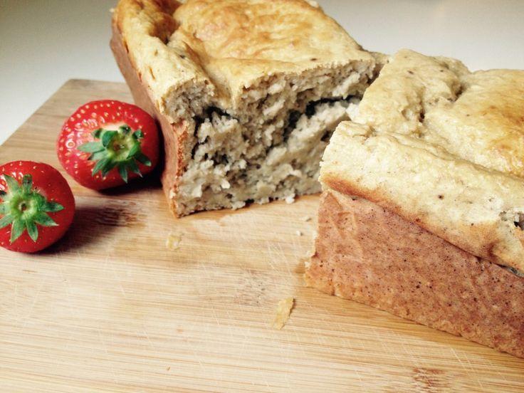 Recept: Eiwitrijk bananenbrood met kwark