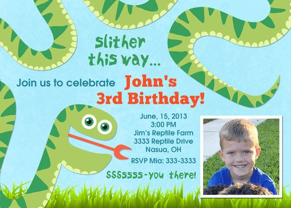 Printable reptile party invitation template by printedparty.