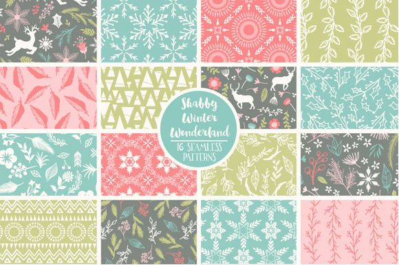 Shabby winter wonderland patterns by cocoa mint on creative market shabby winter wonderland patterns by cocoa mint on creative market urtaz Images