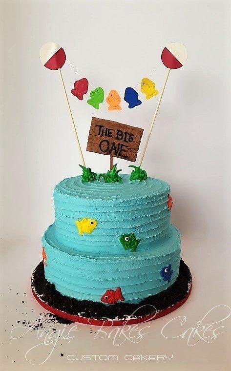 Fishing Birthday Boy Cake Topper