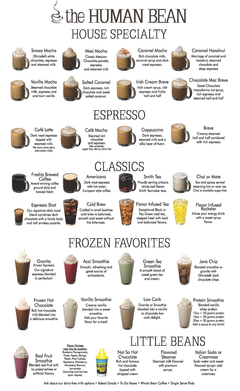 Drink Menu Ninja Coffee Bar Recipes Coffee Shop Menu Specialty Coffee Drinks