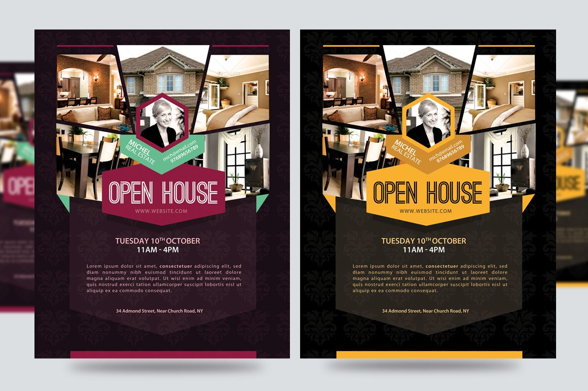 open house for new building flyer