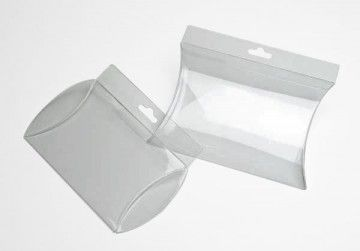 Clear Pillow Boxes (Side Hanger) | Crystal Clear Bags Canada Inc ...