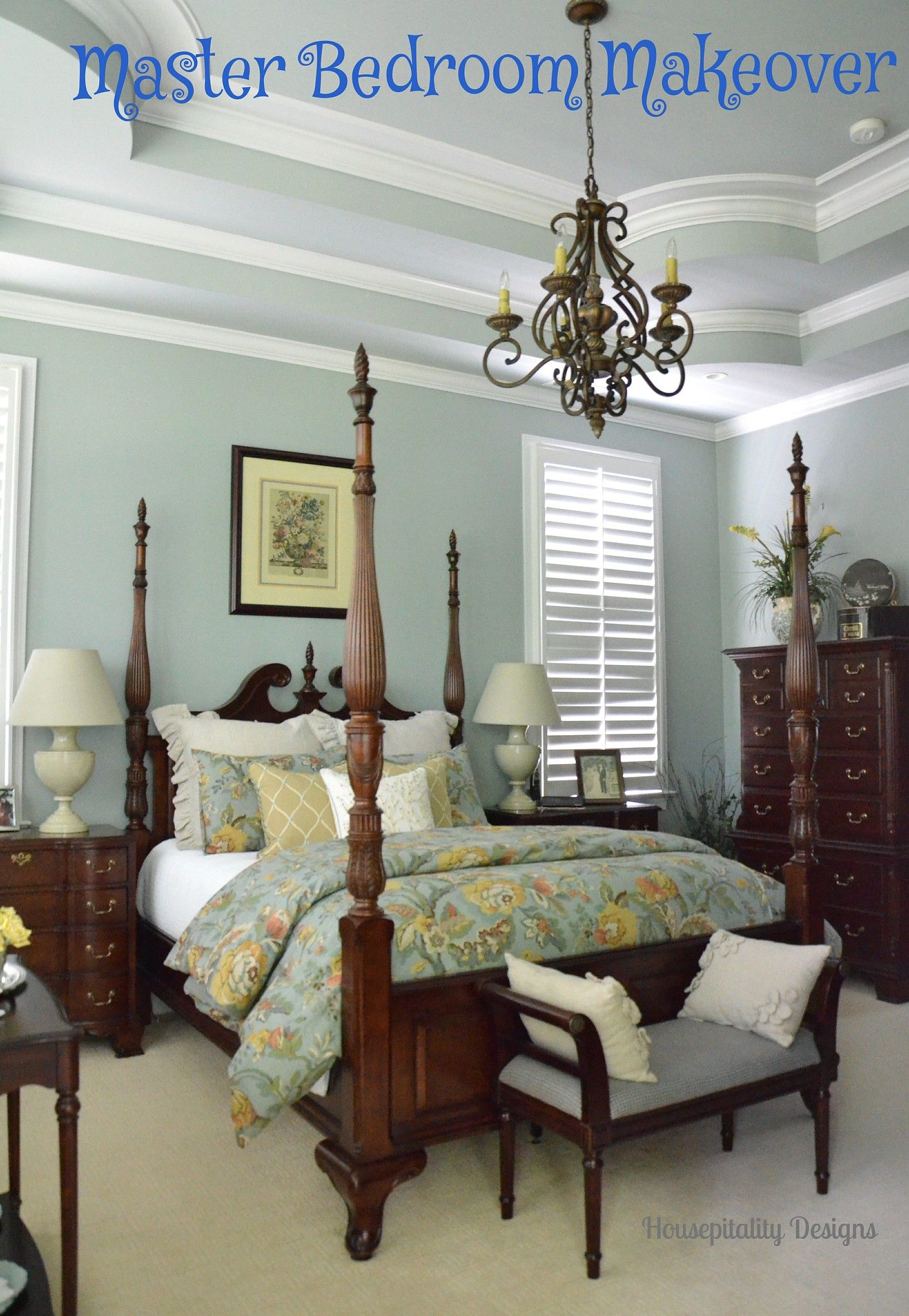 Master Bedroom Makeover in 2020 | Traditional bedroom ...