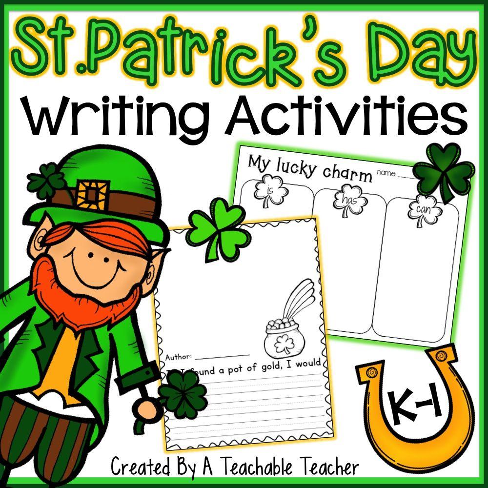 St Patricks Day Writing Activities Kindergartenklubcom