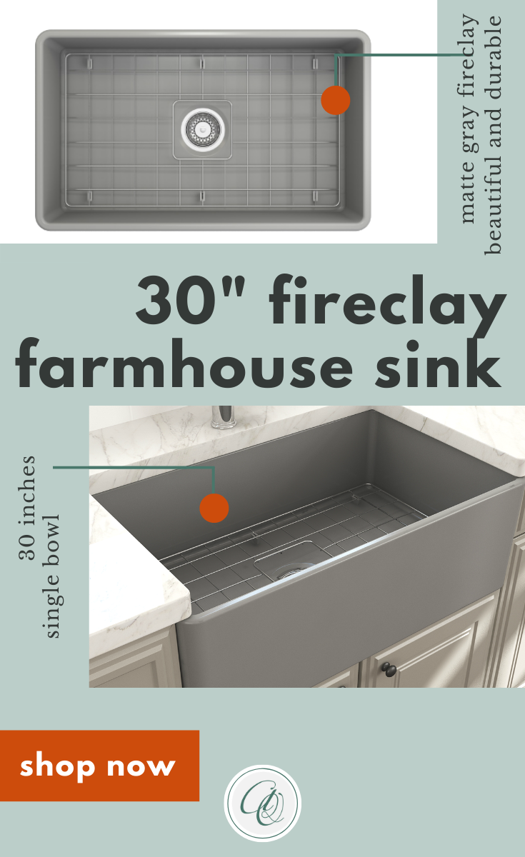 Bocchi Classico 30 Matte Gray Fireclay Farmhouse Sink Single Bowl With Free Grid In 2020 Fireclay Farmhouse Sink Farmhouse Sink Farmhouse Sink Kitchen