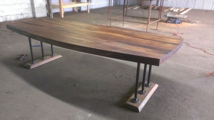 Black Walnut Conference Table From THE INDUSTRIAL FARMHOUSE - Modern industrial conference table