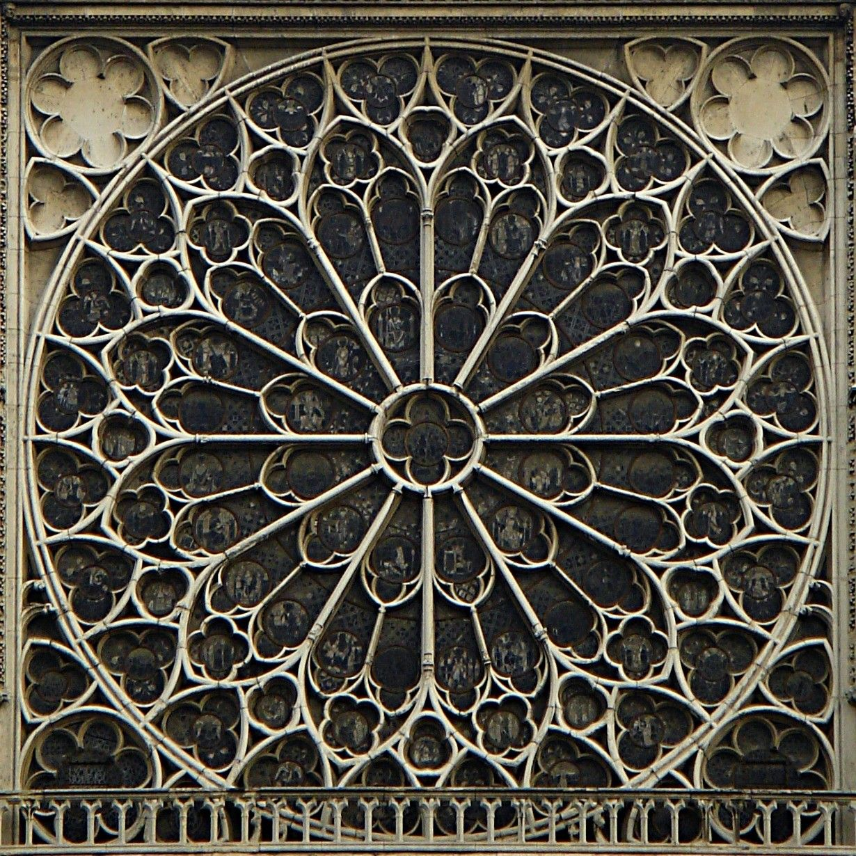 Unified architectural theory chapter 14 arch for Rose window design