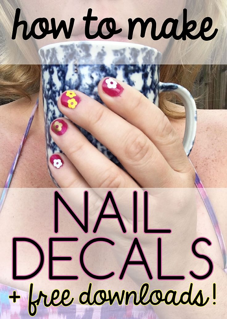 Learn how to create cute decals to put on your nails. They can last ...