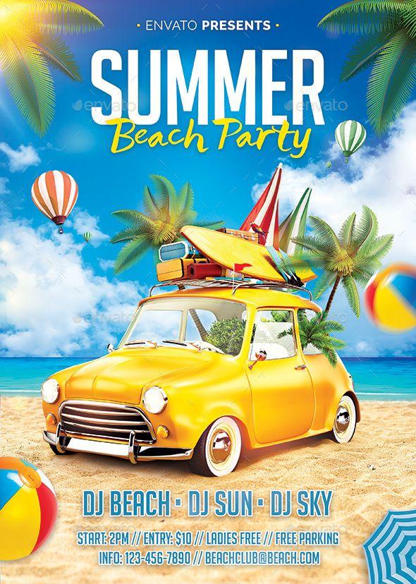 Summer Beach Flyer Clubs & Parties Events Download