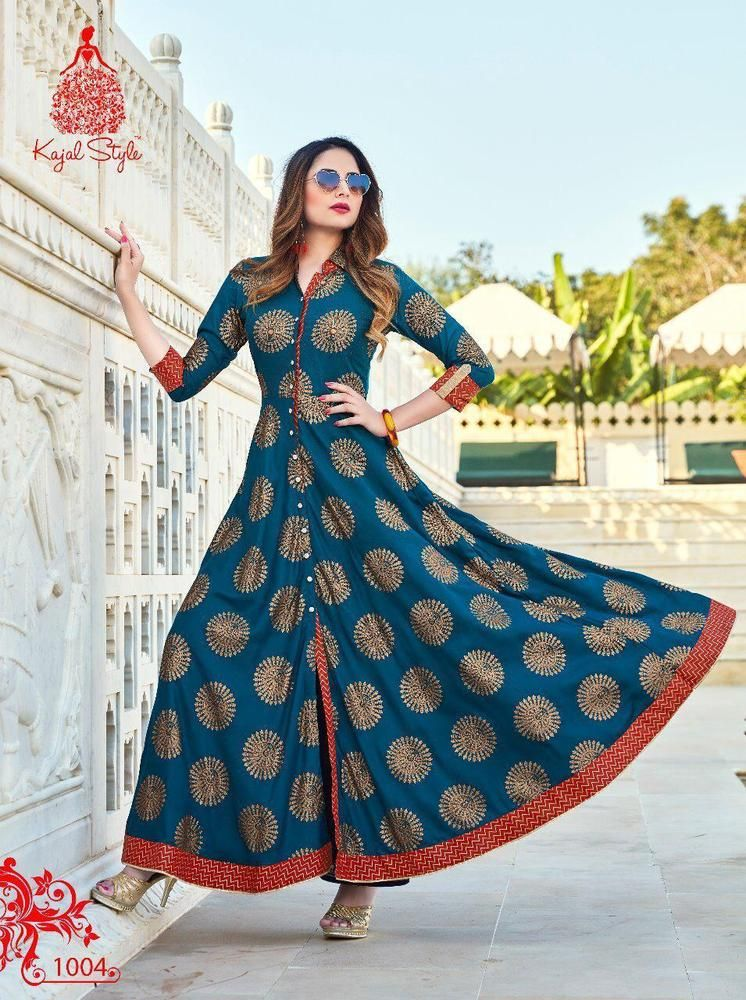 Indian Bollywood Designer Pakistani gown Kurta Kurti women ethnic dress L1004