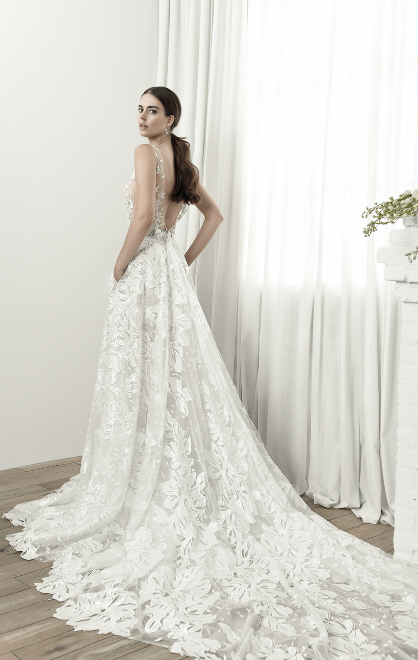 8f0c26e96bf LEE GREBENAU 2019 Vera gown with over-skirt