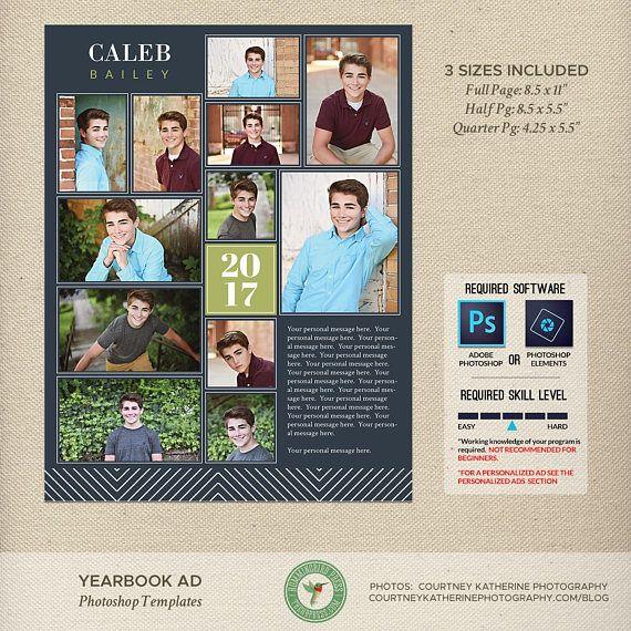 Senior Yearbook Ad Photoshop Templates Graduation Ad High Etsy Senior Yearbook Ads Yearbook Ad Senior Ads