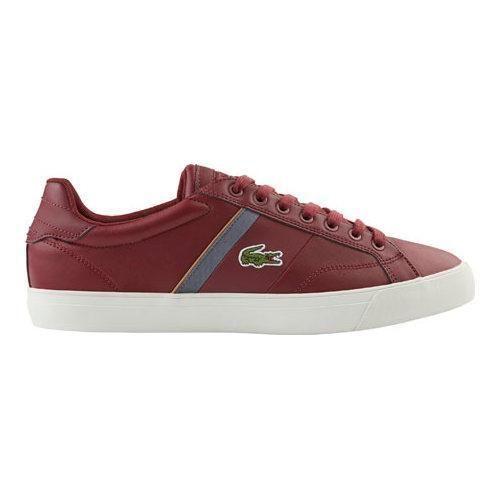 9851eca4ebc755 Men s Lacoste Fairlead 416 1 Sneaker Dark Leather Synthetic ...