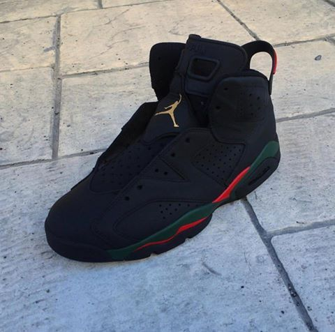 2d5db80dc87bc Gucci Air Jordan 6 customs by quonito