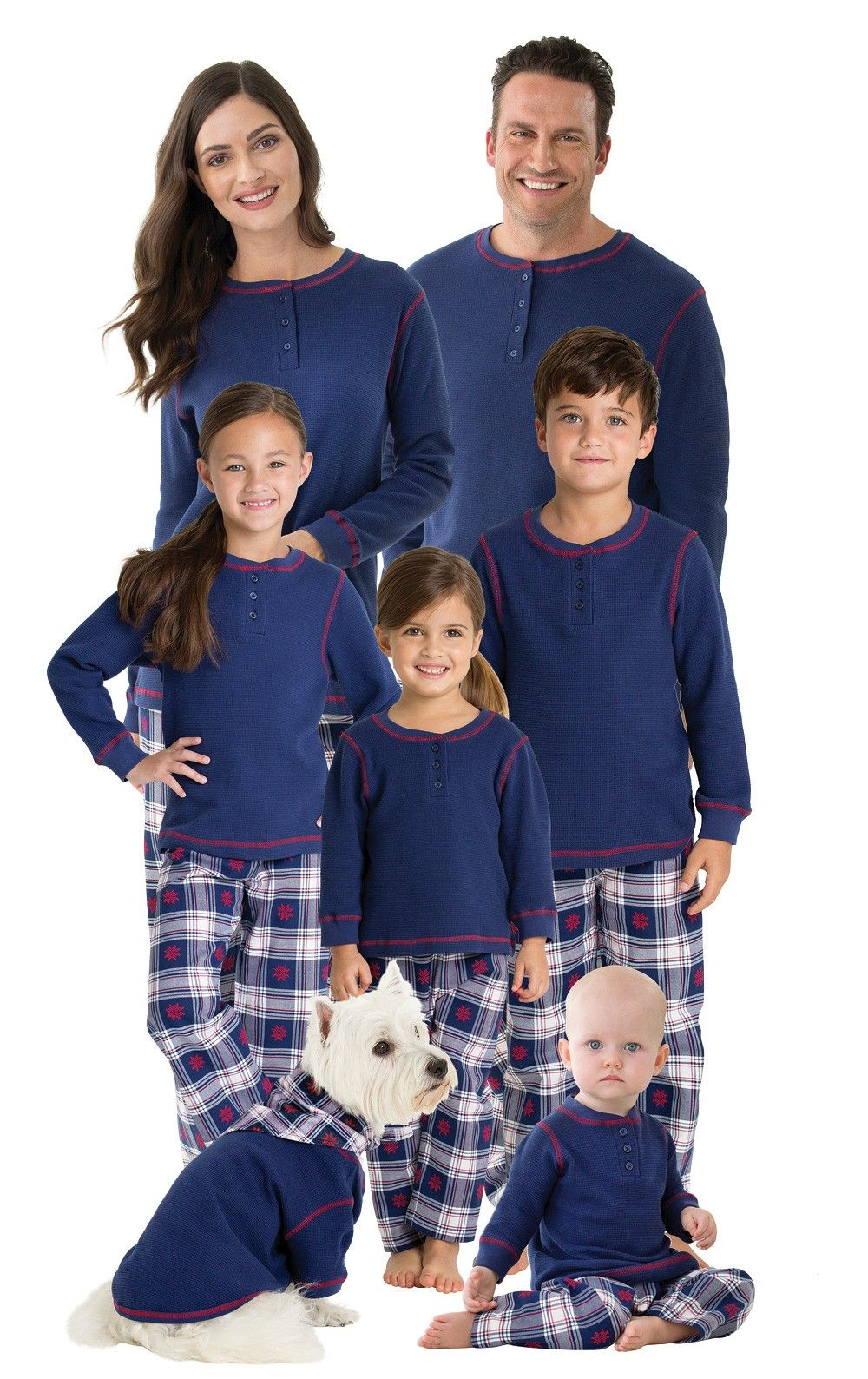 Snowfall Plaid Matching Family Pajamas Matching family