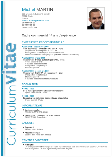 Exemple De Cv Elegant Modeles De Lettres Exemple Cv Modele Cv