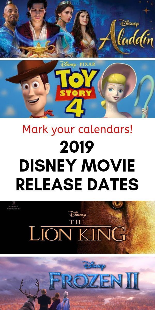 All the 2019 Disney Movie Release Dates Mark Your