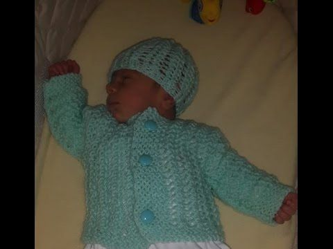 How To Knit Newborn Baby Hat For Beginners Youtube Chaqueta Bebe Punto Cárdigan Tejido Para Bebé Ganchillo Bebe