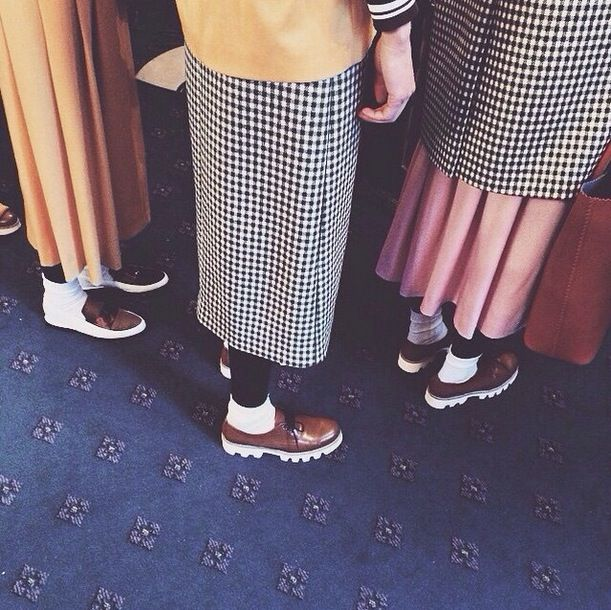Socks and shoes (trust us) is the hot new trend everyone is wearing already. Add tights too if you're brave enough...