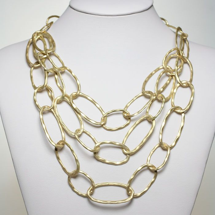 Gold Layered Link Necklace