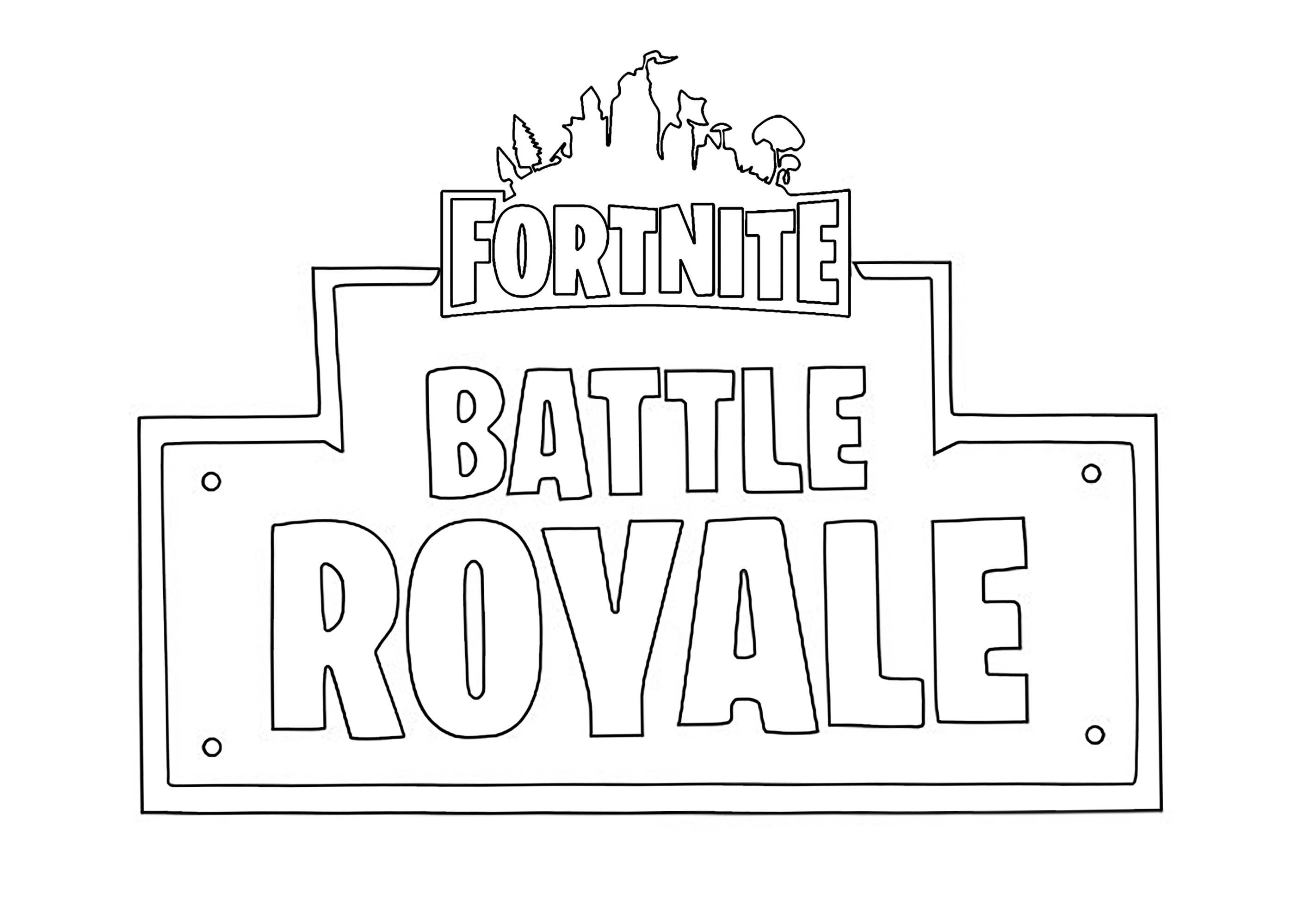 Fortnite Battle Royale Kids Coloring Coloring Pages Coloring Pages For Boys Colouring Pages