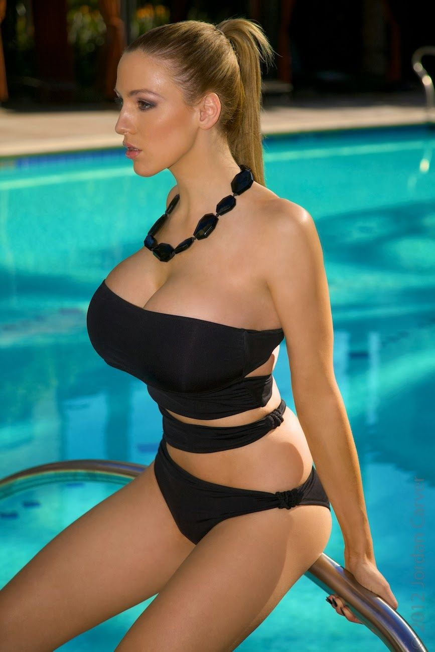 jordan carver tight boobs near swimming pool - big boobs jordan