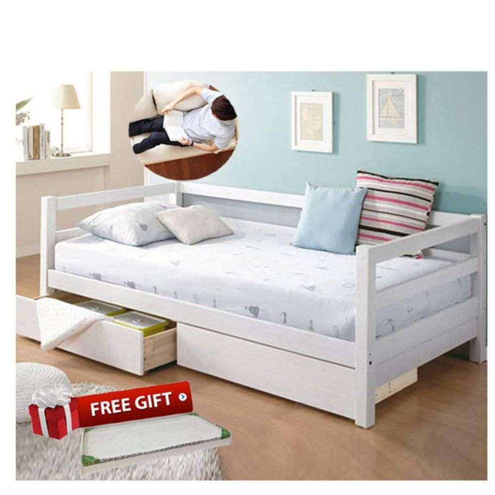 Bedroom Wooden Sofa Bed With Multifunctional Drawers White Free Fu With Storage Beds Wooden Sofa Bed With Multifunctional Drawer Wooden Sofa Bed Bed Storage