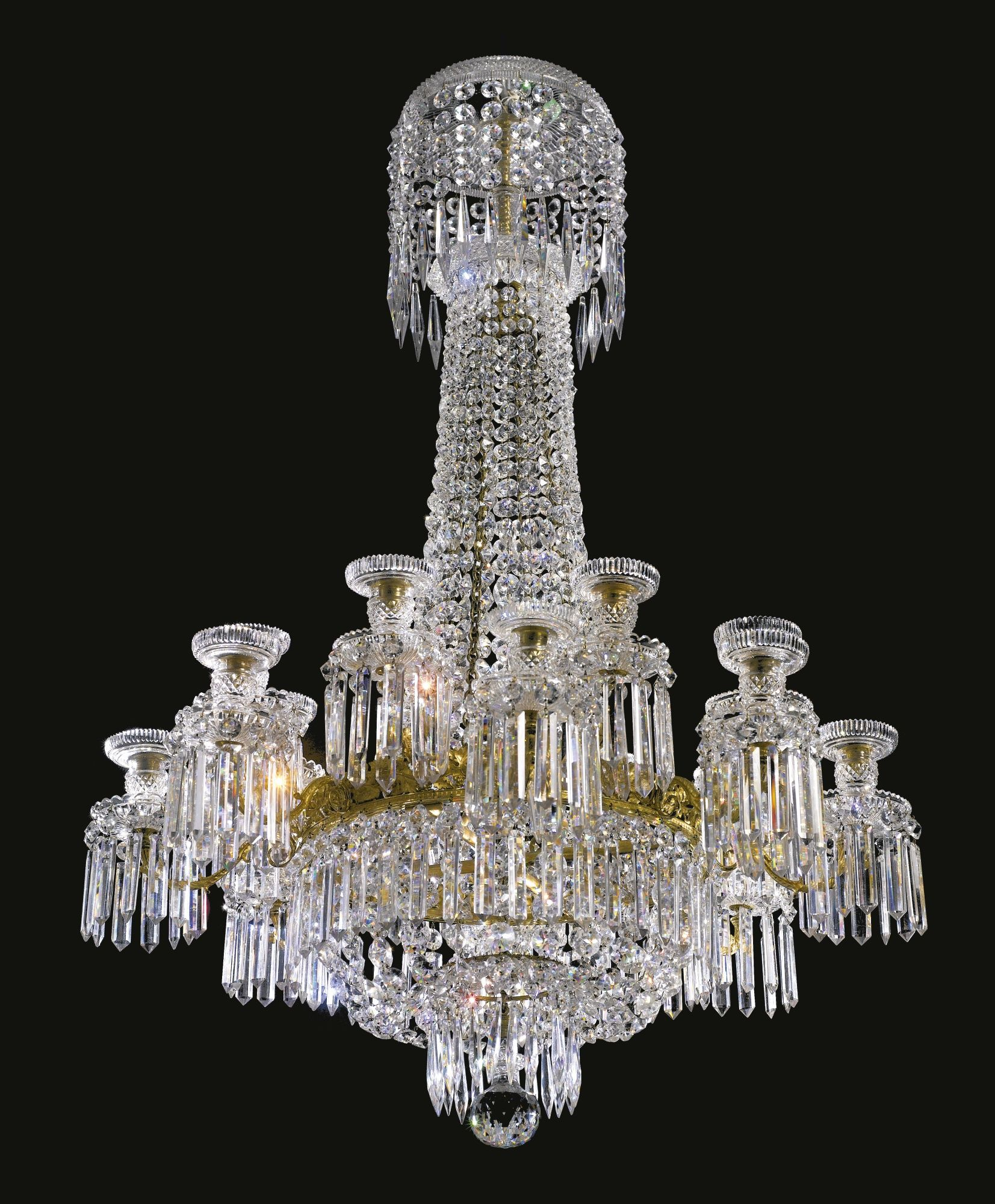 A fine and rare regency cut glass chandelier circa 1820 height 46 in a fine and rare regency cut glass chandelier circa 1820 height 46 in aloadofball Gallery