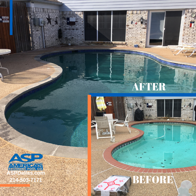 Remove Old Dated Brick Coping And Replace It With New Natural Stone Pool Renovation Swimming Pools Company Pool