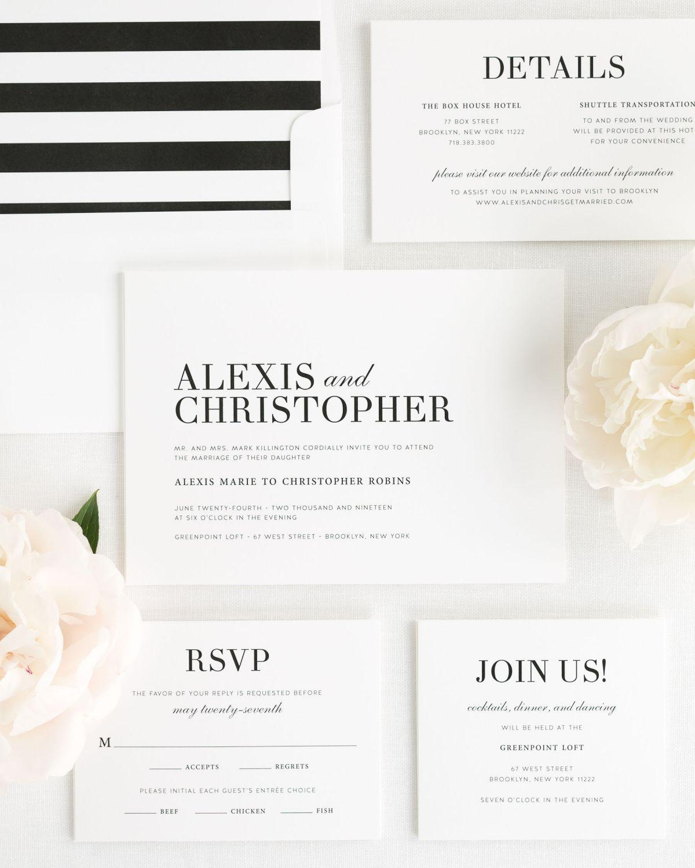 Urban Glamour Wedding Invitations | Wedding invitation packages ...