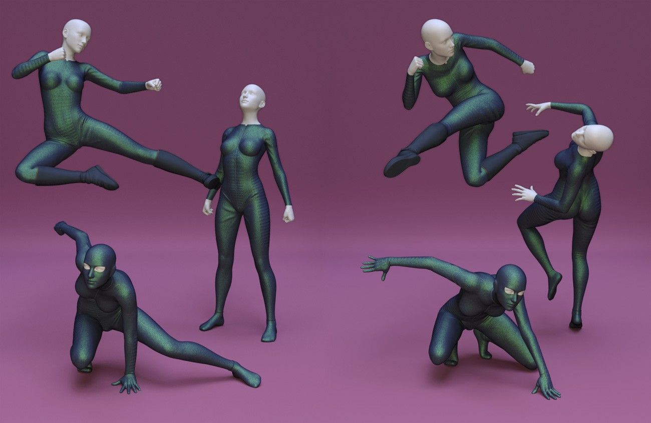 Superhero Poses For Genesis 8 Female 3d Models And 3d Software By Daz 3d Action Poses Drawing Female Action Poses Drawing Poses