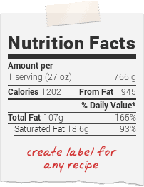 Nutrition facts fodmap pinterest fast diet recipes people recipe calorie calculator get personalized and detailed nutrition facts for any recipe forumfinder Choice Image