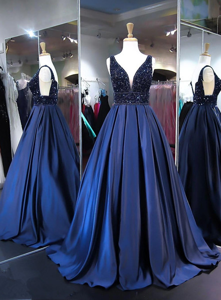 478565a55271 Beading Ball Gown Prom Dress