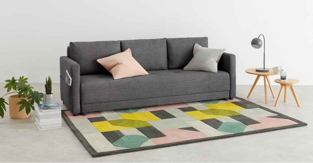 Superb Made Essentials Brock Platform Sofabed Pewter Grey Sofa Uwap Interior Chair Design Uwaporg