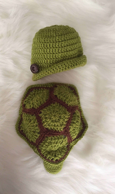 5cb7afd22 Handmade Newborn Turtle Costume, Baby Photo Props | handmadewithlove ...