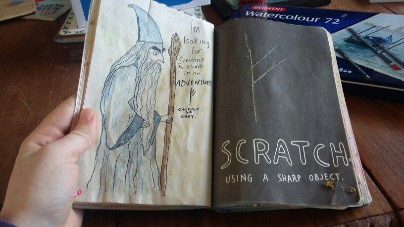 Gandalf. Wreck This Journal.  By @ilcondensedmilk.