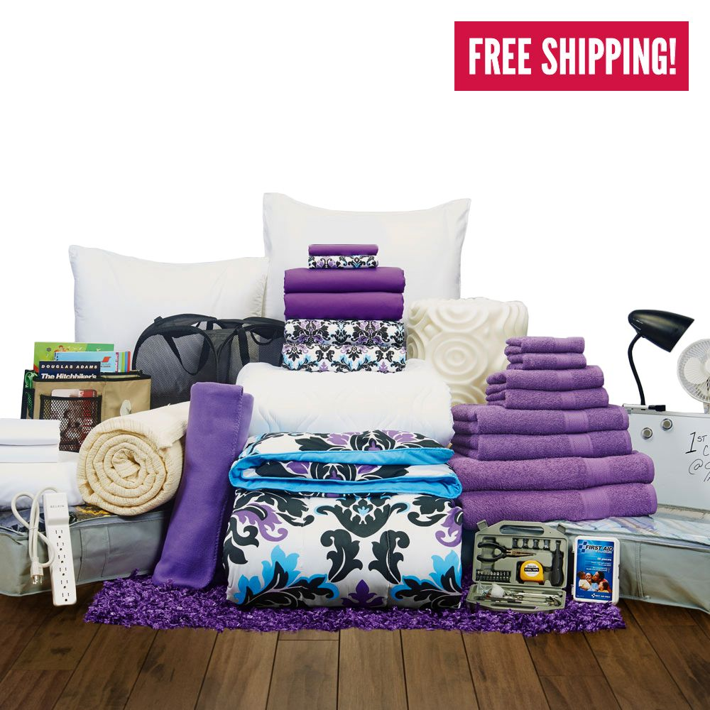 girls best rest collection twin xl bedding and bath set grand canyon university dorm