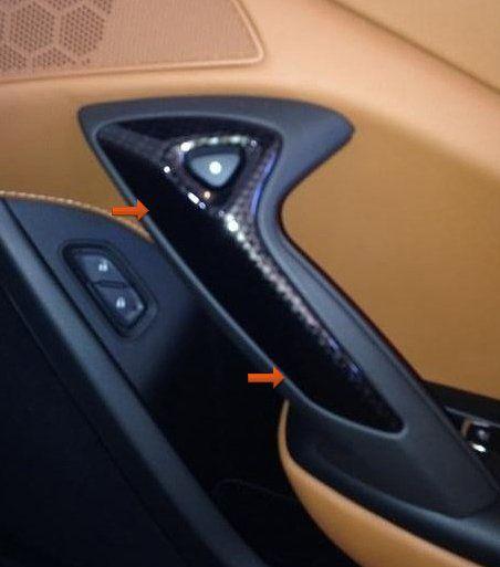 C7 2014 2019 Corvette Hydrocarbon Passenger Door Handle Bezel Corvette Passenger Door Handles