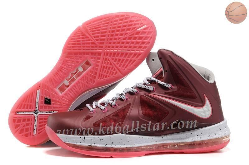 official photos 93719 4c9a2 542244-600 Fireberry Nike LeBron X 10 Bordeaux Wolf Gris - Fireberry -  MetTousic Or