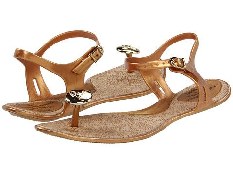 c5f125bad6a6d3 Vivienne Westwood Anglomania + Melissa Button Gold Gold