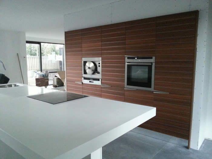 Afbeeldingsresultaat voor ingebouwde keukenwand keukens