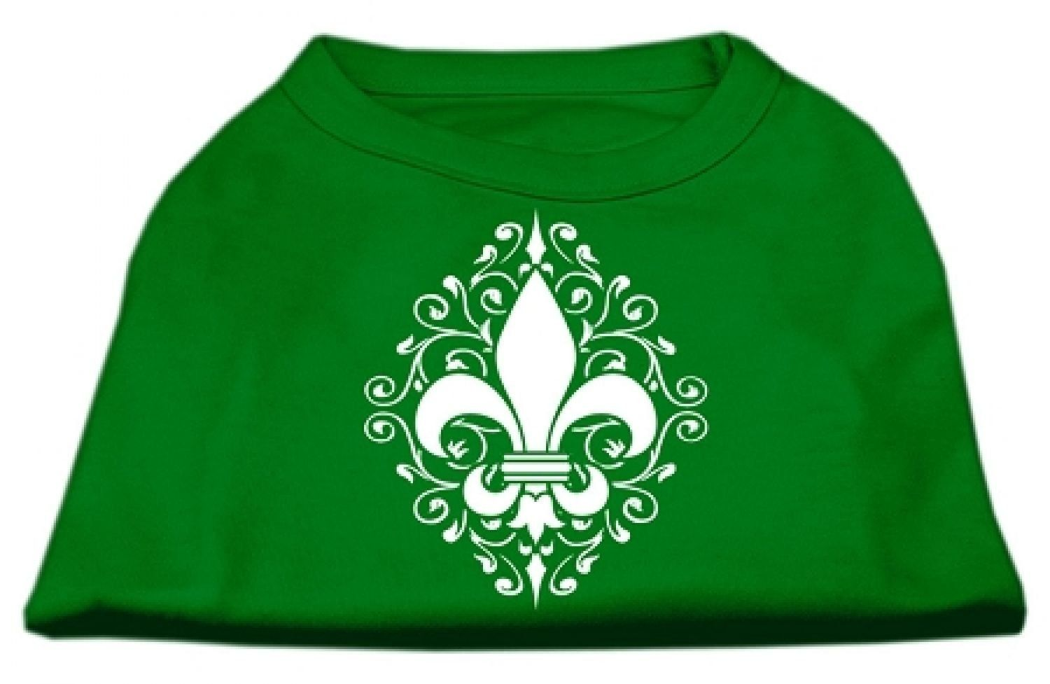 Mirage cat Products Henna Fleur De Lis Screen Print Shirt, X-Small, Emerald Green *** Wow! I love this. Check it out now! : Cat Apparel