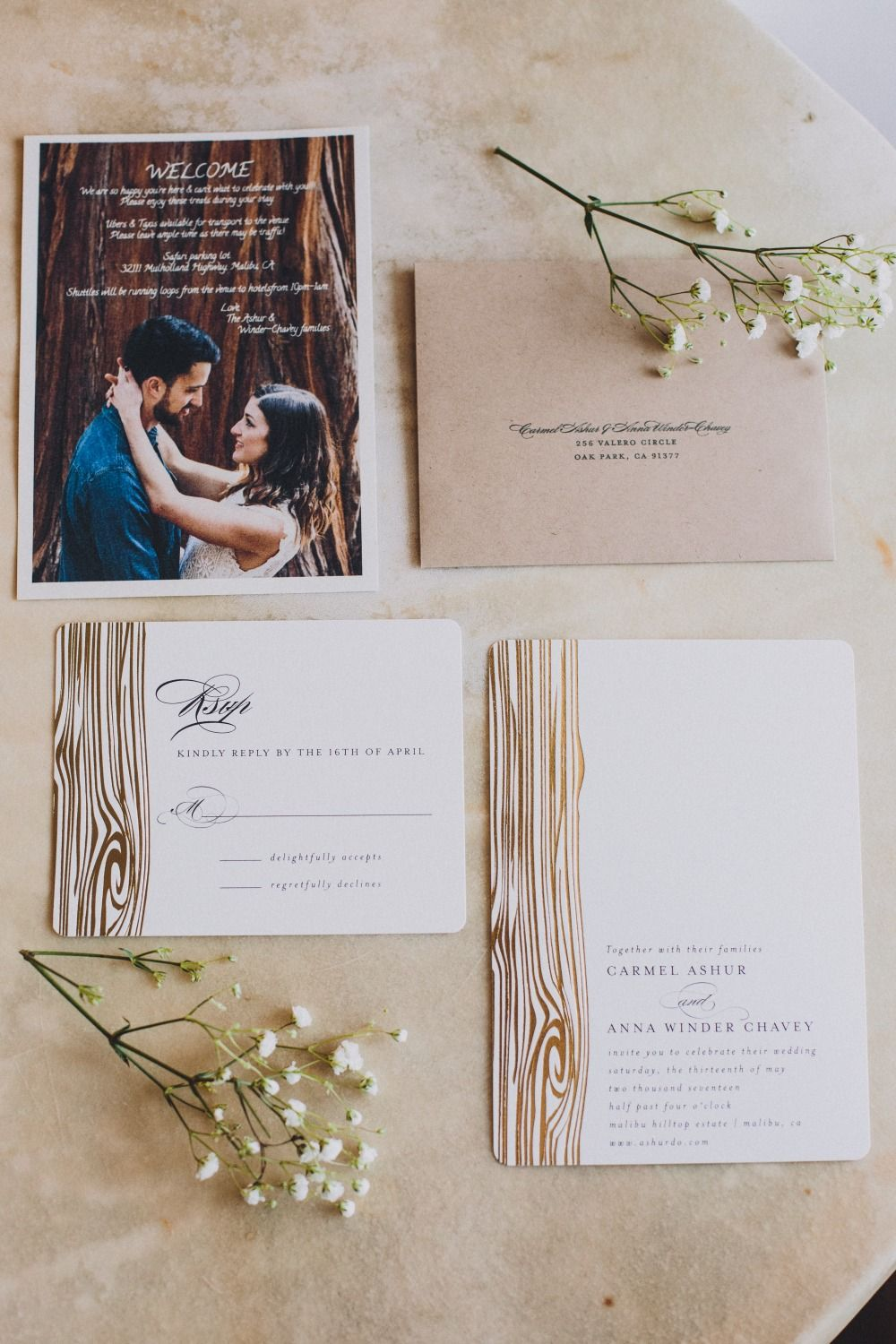 How To Give Your Chic Wedding A Natural Makeover Invitations