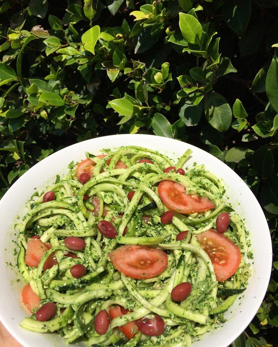 Feeling the fresh raw vegan vibes with this pesto zucchini noodles feeling the fresh raw vegan vibes with this pesto zucchini noodles i followed tessbegg pesto recipe soo yum if you want to thrive off a vegan forumfinder Gallery