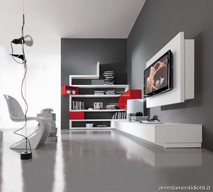Creative side libreria angolo diotti a f arredamenti for Mobili da sala ad angolo
