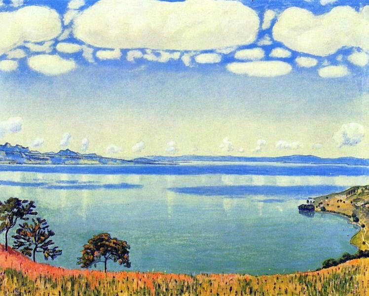 Ferdinand Hodler Lake Geneva from Chexbres 1905