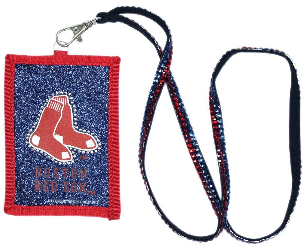 Boston red sox beaded lanyard wallet lanyard wallet